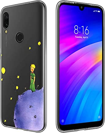 c5676b6e12a Yoedge Funda Xiaomi Redmi 7 Ultra Slim Cárcasa Silicona Transparente con  Dibujos Animados Diseño Patrón [