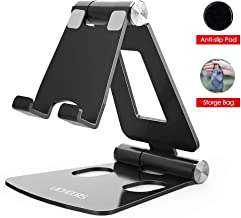 Adjustable Cell Phone Stand, licheers Multi-Angle Cell Phone Holder, Cradle, Dock, Stand Compatible with Nintendo Switch, Android Smartphone, Phone 11 Pro Xs Max Xr X 8 7 6 6s Plus for Desk (Black)