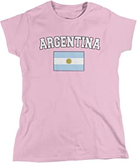 Amdesco Women's Flag of Argentina, Argentine Flag T-Shirt