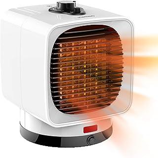 Ommani 電気ファンヒーター 1500W熱効率up 6畳までぽかぽか 時限設定機能 セラミックヒーター 2秒即暖 PSE認証 過熱保護 持ち運び簡単 脱衣所 足元 トイレ