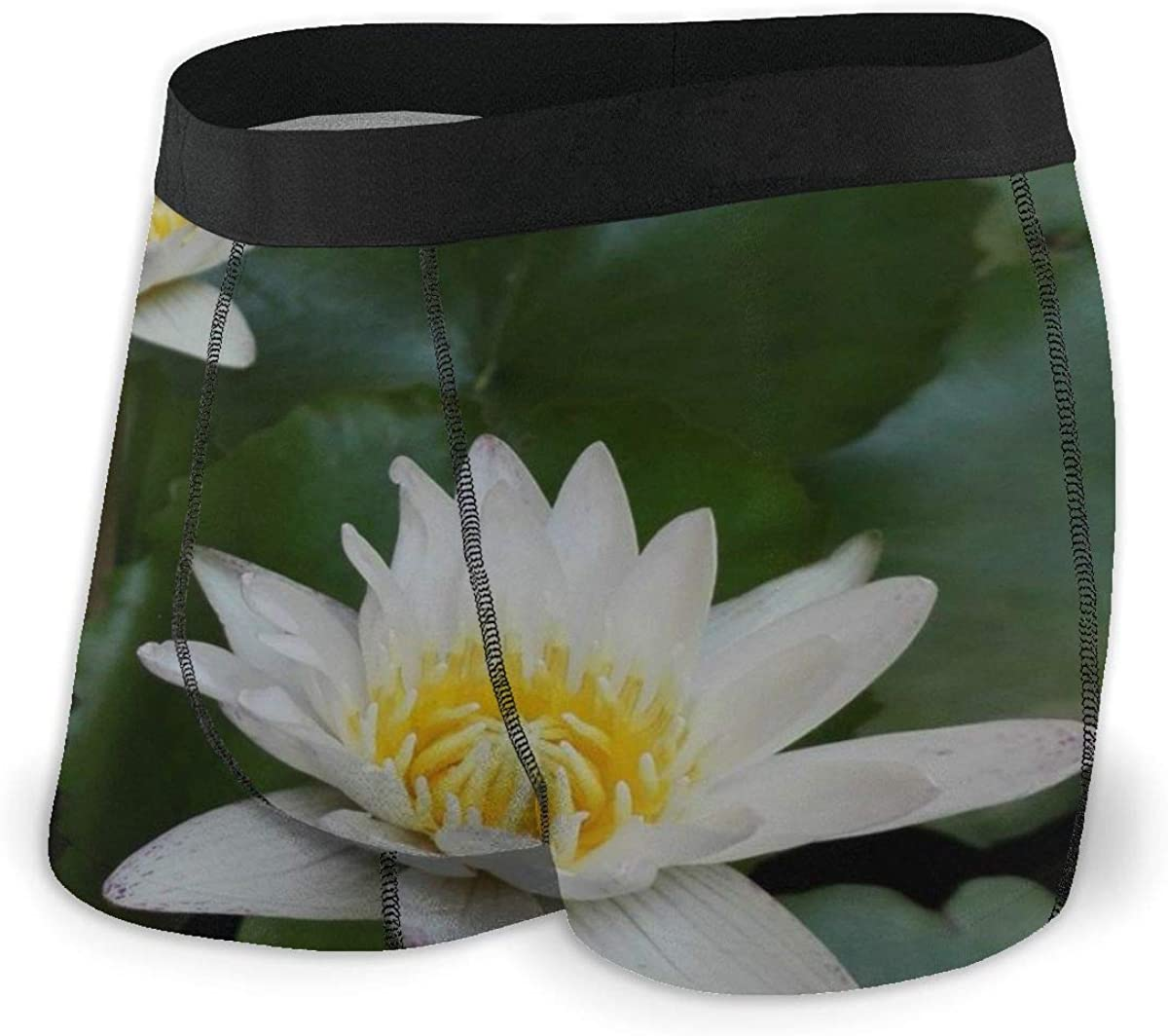 Randolph Wordsworth Mens Boxer Briefs White Lotus Natural Breathable Underwear