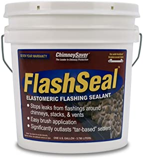 Chimney Saver Flash Seal Sealant 1 Gallon (Black) (Fabric Not Included)