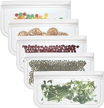 YTXTT Bolsa reutilizável para armazenamento de alimentos, saco extra grosso com vedação de fecho, sacos para congelar, sac...