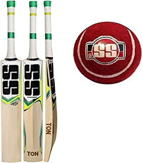SS T20 Storm Kashmir Willow Cricket Bat with Tennis Cricket Ball and Bat Face Tape (Bat Cover Included) : 2019 Edition