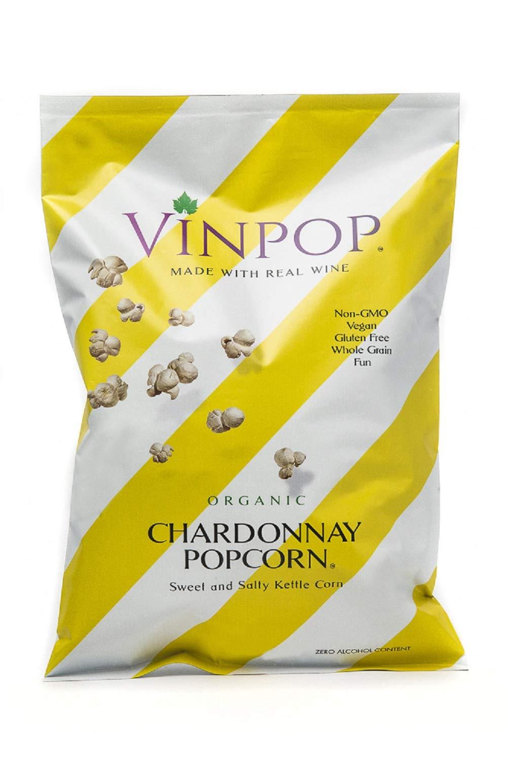 VINPOP Super sale Organic Popcorn - Spasm price Chardonnay 2 Pack Ounce Bag Made 12