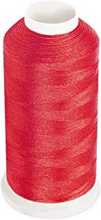 Desirable Life Bonded Nylon Thread for Sewing Leather Denim Canvas Heavy-Duty N66 1500 Yards Size 69 T70 Red