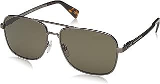 Marc Jacobs Men's Marc 241/S QT R80 59 Sunglasses, Grey (Smut Dkruthe/Gn Green) (MARC 241/S QT R80 59 R80-59)