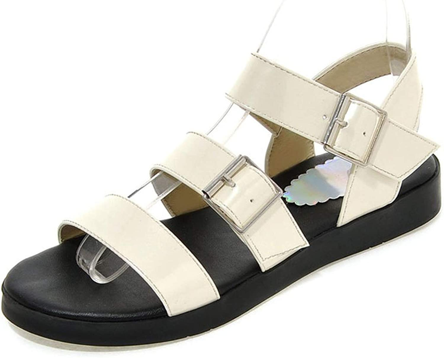 Casual Flat Sandals Concise Buckle Gladiator Sandals Women Flats Bling Women 'Summer shoes Lady Girls Footwear