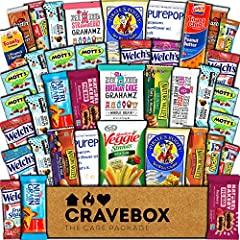 HEALTHY SNACKS: This 40 count care package includes a mix of healthy snacks (that are still sweet and savory). Best essential brands of nuts, fruit chews, bars, popcorn, veggie chips. Best variety on Amazon as it includes all of your favorite individ...