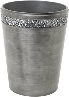 Zenna Home, India Ink Altair Waste Basket, Pewter