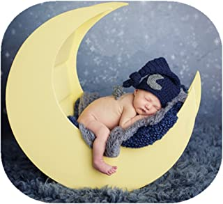 Newborn Baby Photography Props Outfits Crochet Knit Fashion Cute Moon Star Hat for Boy Girl Photography Shoot