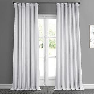 HPD Half Price Drapes BOCH-LN185-P Faux Linen Room Darkening Curtain (1 Panel), 50 X 96, Oyster