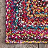 nuLOOM Tammara Handgeflochten Teppich, Baumwolle, Bunt, 90 cm x 150 cm oval - 6