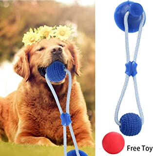 YWHSM Suction Cup Dog Toy Pet Supplies Self-Playing Rubber Ball Toy with Suction Cup Dog Toy with Suction Cup Chew Rubber Bite Chew Toys Care Accessory Nontoxic Natural