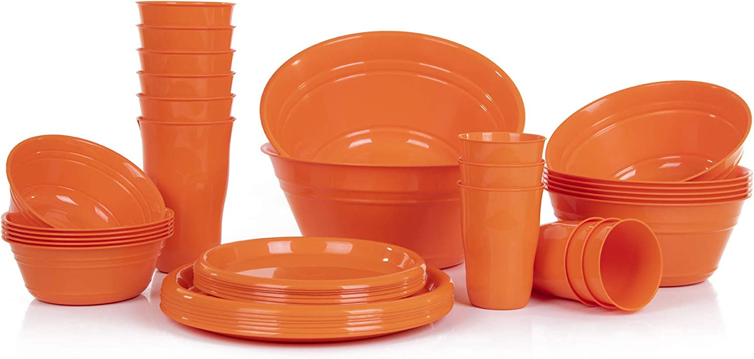 Mintra Home Snack Bowls Party Free shipping on posting reviews Set Orange 38pc - Sales of SALE items from new works