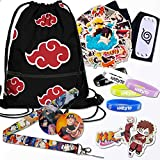 Anime Gifts for Teens,Anime Headband,Drawstring Bag,Stickers,Bracelet,Lanyard,Phone Ring Holder-Ideal Anime Lover Gifts