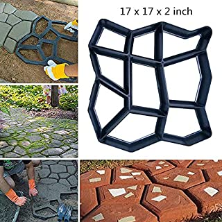"""17"""" x 17"""" Big Size Concrete Molds Large DIY Garden Plastic Path Paving Brick Mould Patio Path Maker Concrete Stamps Garden Courtyard Decoration Irregular Pattern"""