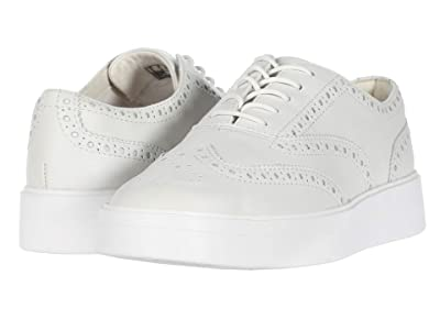 Clarks Hero Brogue (White Leather) Women