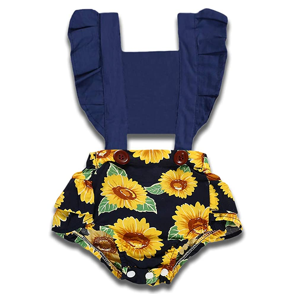 YOUNGER TREE Newborn Toddler Baby Girls Lace Romper Cute Flower Bodysuit Summer One Piece Jumpsuit Clothes