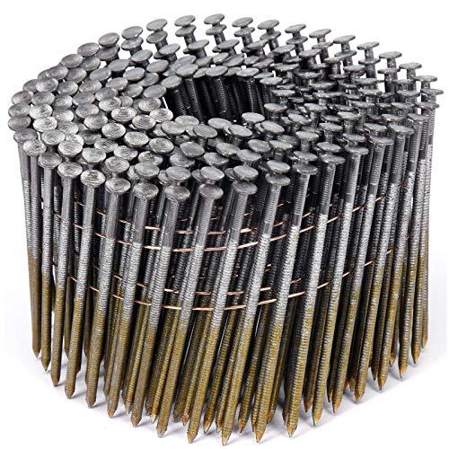 VOREL drahtgebundene Coilnägel Spulennägel Trommelnägel | Mengen und Größen nach Wunsch: 32 x 2,1 mm 38x2,1mm 50x21mm 64x2,5mm 70x2,5mm 75x2,5mm 80x2,88mm 90x2,8mm (3000, 80x2,8mm)