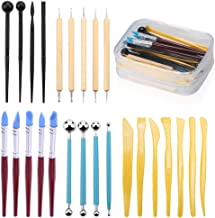 Fondant Tools, TEOYALL 25 Pcs Ball Stylus Dotting Tools Cake Decorating Tools Modeling Tool Set (25)