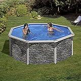 Pool Set cerdena by Gre piedra redonda 350cm