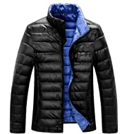 ZSHOW Men's Lightweight Stand Collar Packable Down Jacket