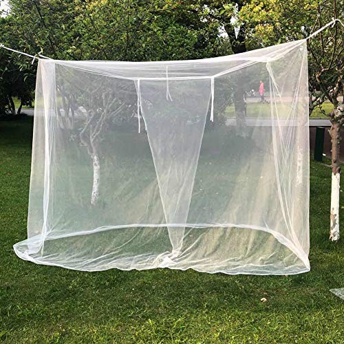 HARVANCO Ultra Large Mosquito Net, 1 Openings Netting Curtains   Camping Screen House   Camping, Bedding, Patio   with Carry Bag