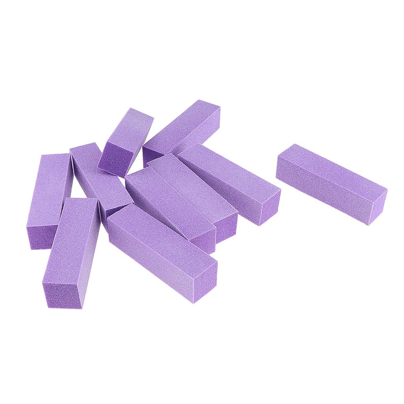 球体呼吸従うIPOTCH 10個 ネイルアート バッファーファイルブロック マニキュア 6色選べ - 紫
