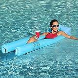 JSVER Hamaca de Agua Flotante Inflable, Silla Inflable de Hamaca Flotante Tumbona de Flotador para Piscina y sofá Cama de Aire para Adultos y niños