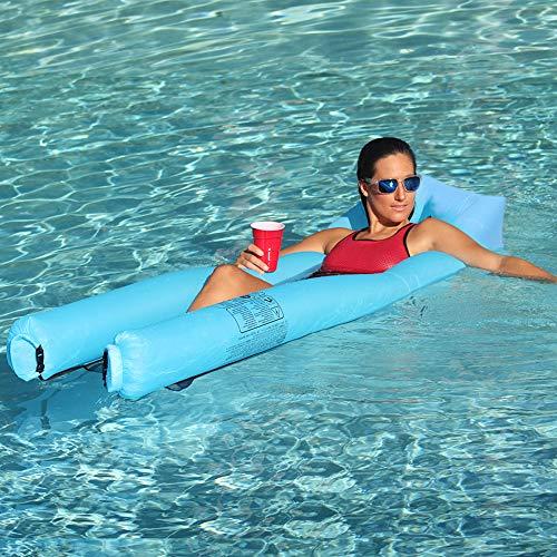 JSVER Water Float Lounger, Opblaasbaar Zwembad Float Hangmat Stoel en Bed Luchtbank voor Volwassenen en Kinderen