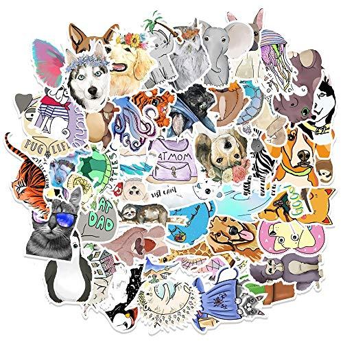 BAIMENG Lindas Pegatinas de Animales de Dibujos Animados para Perros para papelería,...