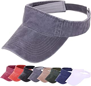 CRUOXIBB Sun Visor Hats for Men Women 100% Cotton Sports Outdoor Caps Adjustable