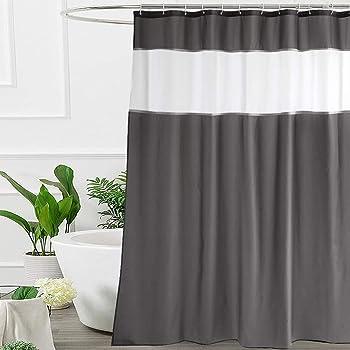 Amazon Com Ufriday Dark Gray Shower Curtain Extra Long 72 Inch X