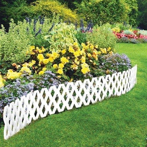 lowest Jumbl 4 Piece Interlocking Garden Lattice online sale outlet online sale Fence - White outlet online sale