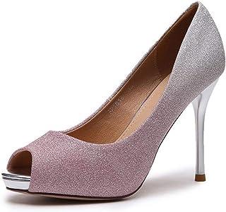 パーティー パンプス キラキラ シルバー グラデーション グリッター ピンヒール ハイヒール 痛くない レディース 結婚式 フォーマル ドレスシューズ 靴 ポインテッドトゥ 美脚 歩きやすい おしゃれ 大人 オープントゥ パンプス
