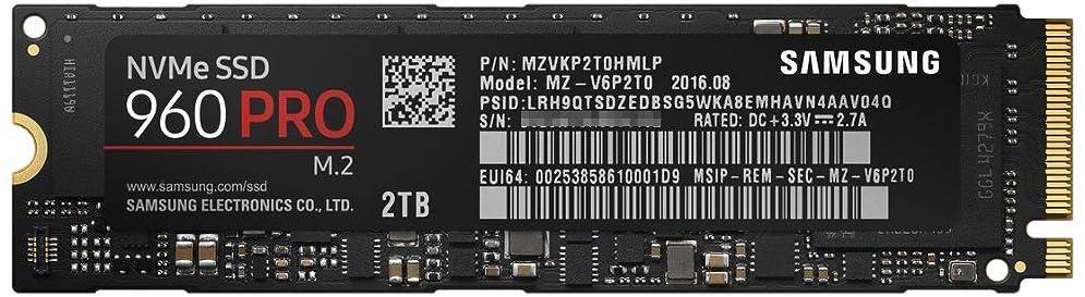 シンポジウムピンポイント画像Samsung SSD 2TB 960PRO M.2 Type2280 PCIe3.0×4 NVMe1.2 5年保証 エコPKG 正規代理店保証品 MZ-V6P2T0B/EC