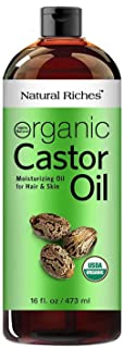 Natural Riches Thick Hair Organic Castor Oil Cold Pressed for Hair Loss & Dandruff..