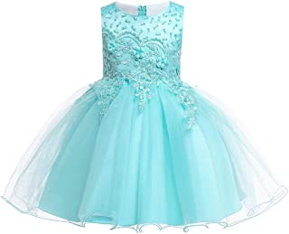 Cocaker Girl Sleeveless Embroidery Princess Pageant Dresses Kids Prom Ball Gown