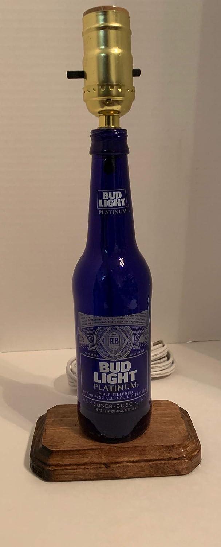 Budweiser Light Blue Max 76% OFF Bottle [Alternative dealer] Lamp