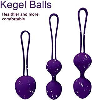 Massage Balls Tightening for Internal Pelvic Floor Prolapse Weighted Exercise Set for Women ,There are 3 Different Massage Exercise Weights kit