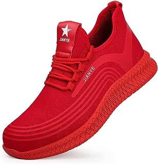 JIANYE Chaussures de Travail Homme Femmes Chaussures de Securité légèr Basket Securite Anti-Perforation