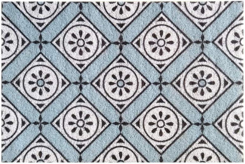Carpet,Carpet Entrance mat Non Skid Backing Geometric Patterned Anti-skidding Home Decor-bluee 60x90cm(24x35inch)