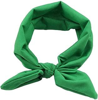 LENXH Bow Hair Ring Rabbit Ears Hair Band Solid Color Headband Fashion Hair Band Simple Cute Hair Ring