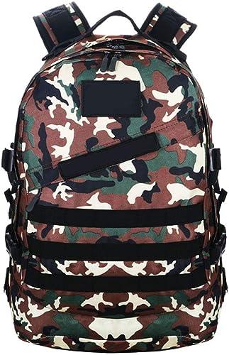 HAOHAOWU Camouflage Sac à Dos Ventilateur de l'armée des Hommes Fournitures de randonnée Sac à Dos Tactique Femme Alpinisme en Plein air Sac Voyage Sac à Dos