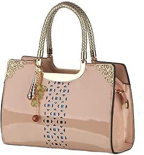 Lady Bag The New Ladies Handbag Shoulder Messenger Bag Handbag (Color : Apricot, Size : OneSize)