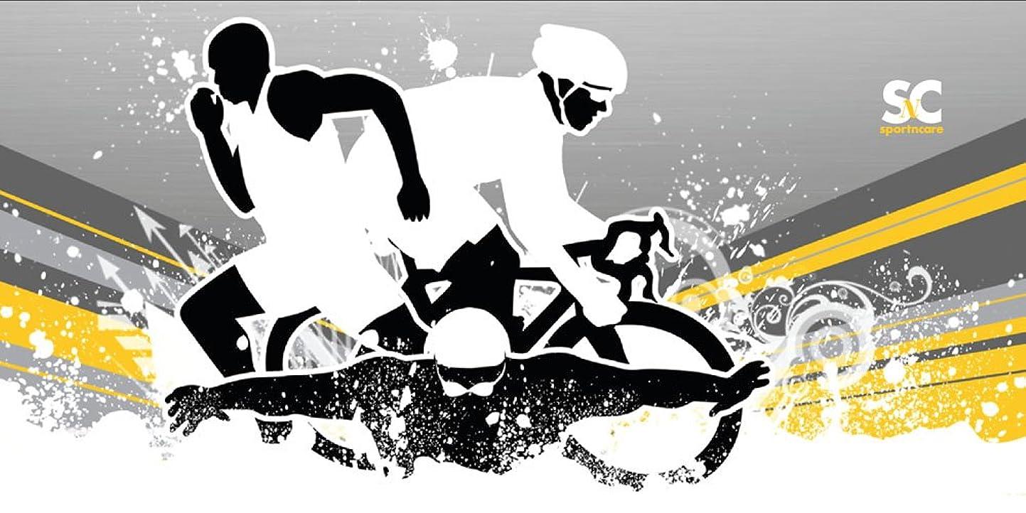 順応性のあるジョイントレタッチスポーツN Careスポーツタオル(トライアスロントライアスロンタオル32?