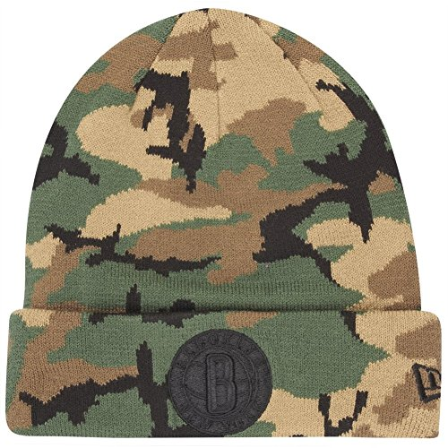 New Era Mujeres Accesorios/Beanie NBA Camo Brooklyn Nets Knit