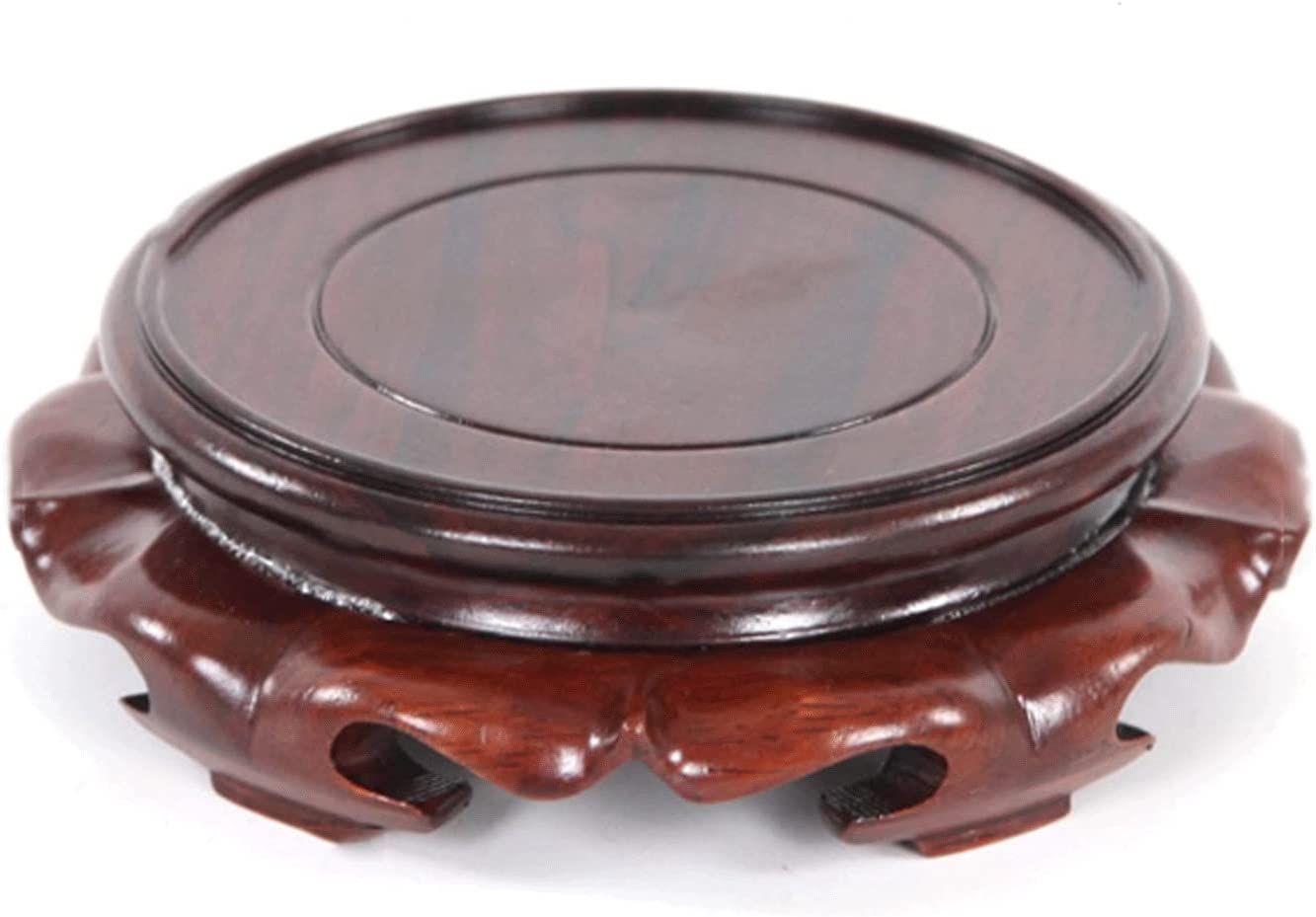 outlet YI0877CHANG Quality inspection Vase Stand Wooden Rosewood Pedestal Round Base