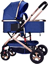Silla De Paseo Ligera Plegable Sentado Embarque De Descanso De Los Cochecitos De Niño del Bebé Cómodo Carro De Bebé Amortiguadora De Golpes Plegable Cochecitos De Niño, 0-25kg (Color : Blue)